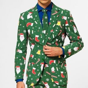 Mens OppoSuit And Tie Santa Boss Holiday